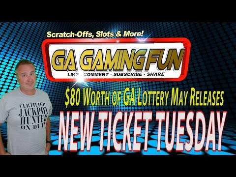 NEW MAY 2018 TICKETS: $80 of GA Lottery Releases and Nice Wins Pre-Scratch Reveals!