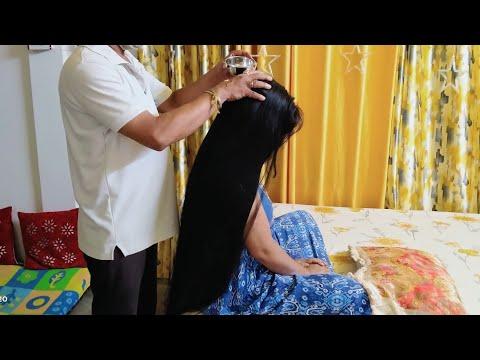 relaxation-hair-massage- -#hairoil