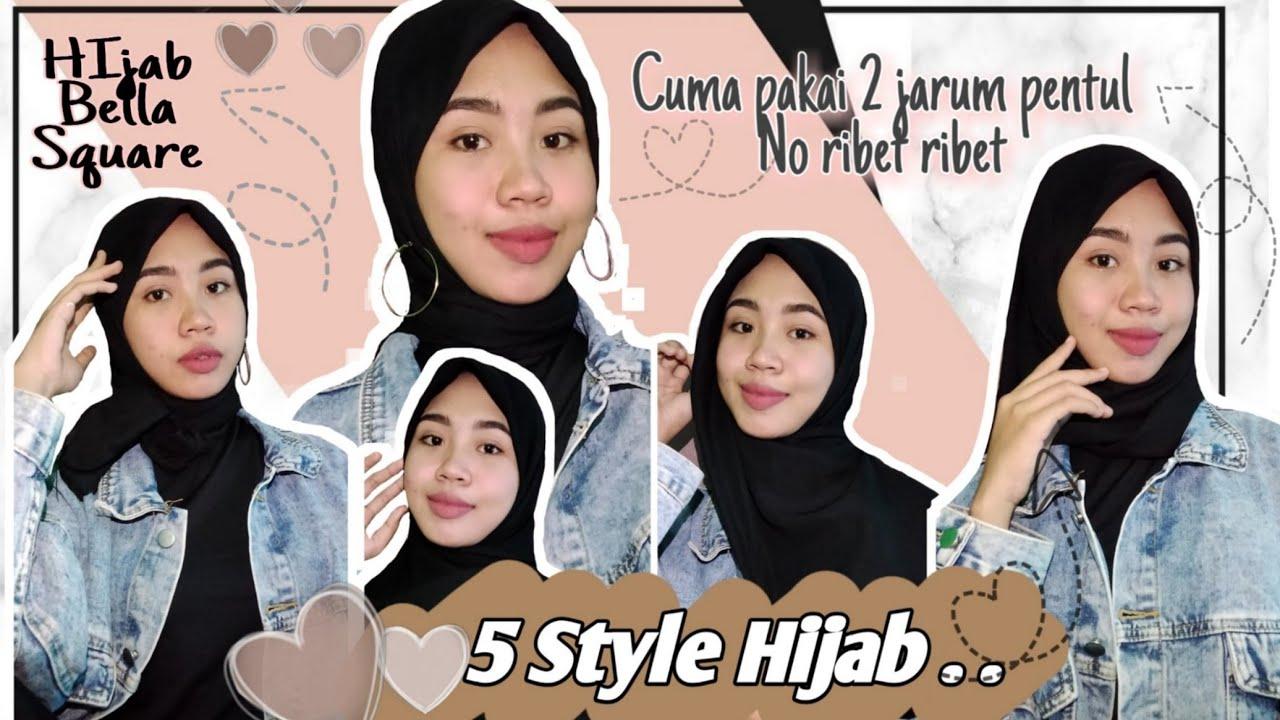 Tutorial Hijab Bella Square Simple Dan Elegant Youtube