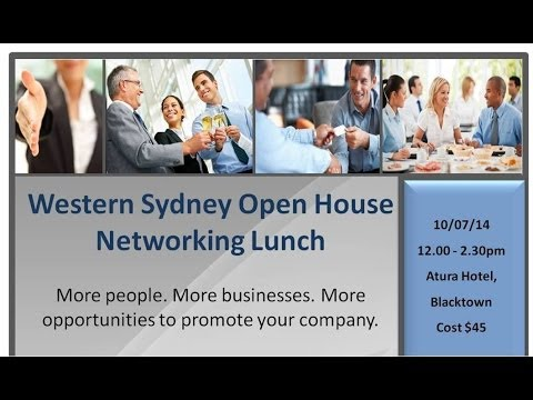 Western Sydney Open House Networking lunch
