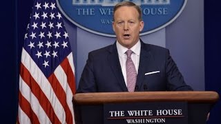 Trump White House holds first press briefing