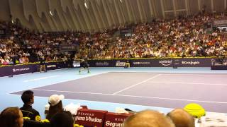 Andy Murray loses a point and breaks the racket.Valencia Open Final vs T.Robredo (2014)