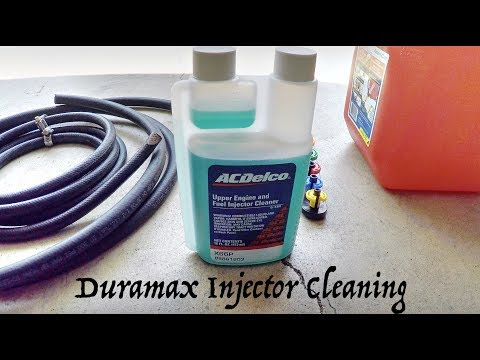 Duramax ACDelco Injector Cleaning with Before and After Balance Rates