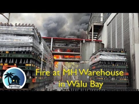 Fire at MH warehouse in Walu Bay