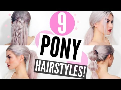 9 PONYTAIL HAIRSTYLES! HEATLESS, EASY & SIMPLE | LYSSRYANN