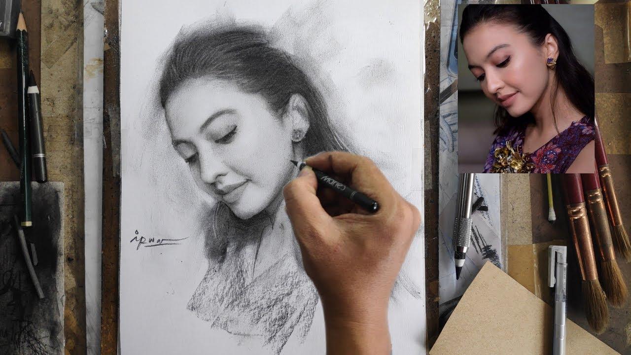 Menggambar SUGA BTS Pakai Pensil By Irwan ART Drawing