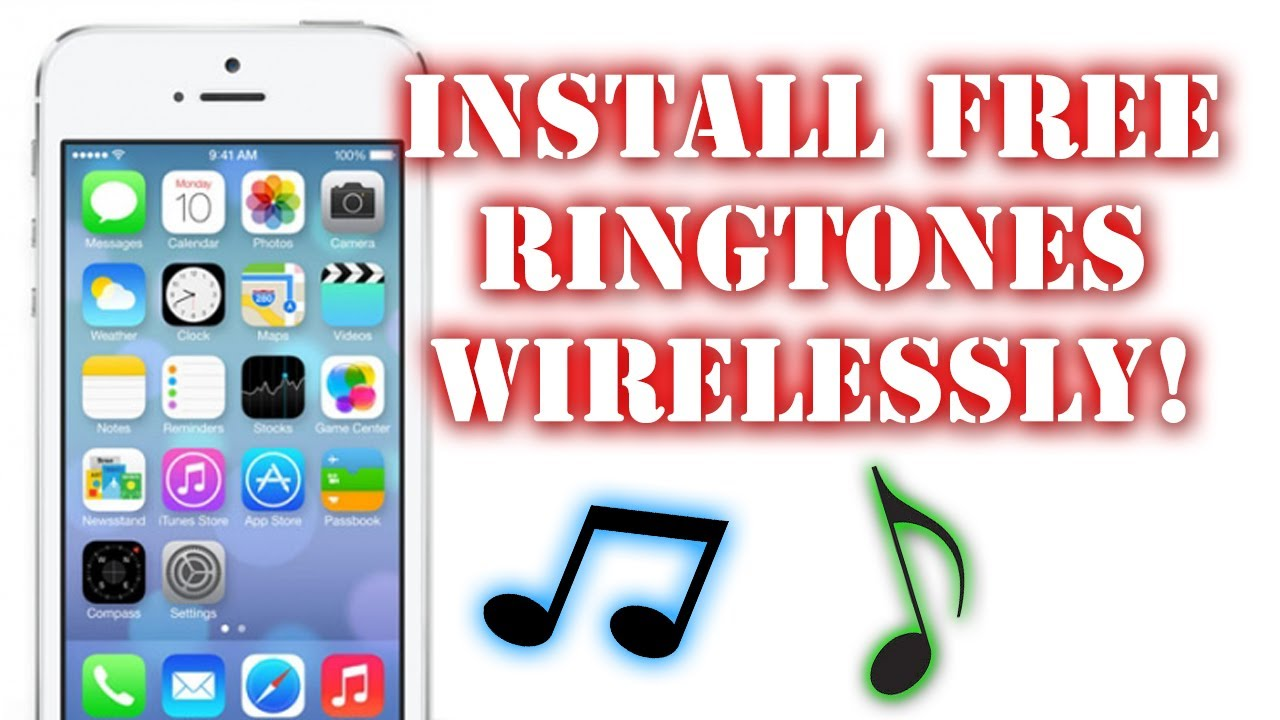 how to add free ringtones to iphone 6 5s 5c 5 4s and 4 wirelessly youtube