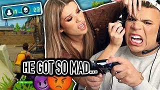FORTNITE MAKEUP CHALLENGE ON BOYFRIEND.. So impossible omg
