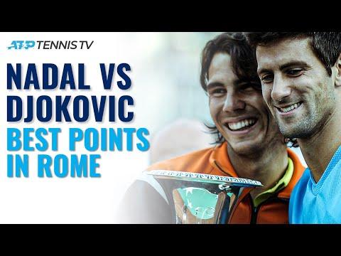 Rafael Nadal vs Novak Djokvoic: Best Points From Every Match In Rome!