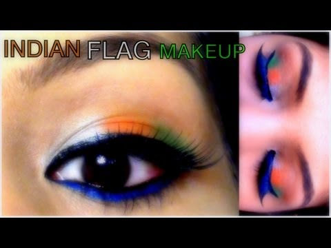 Indian Republic Day Eye Makeup Tutorial | SuperPrincessjo