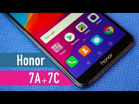 Honor 7A + 7C Hands-on