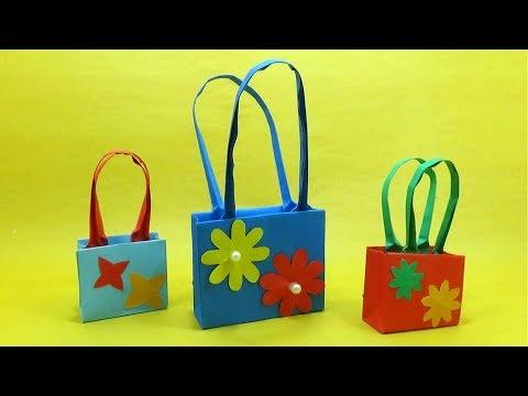 How to Make Well Design Paper Handbag - DIY Paper Bag Making Home - Handbag Making Instructions