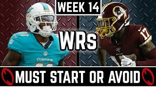 Must Start and Avoid - Wide Receiver - 2019 Fantasy Football (Week 14)