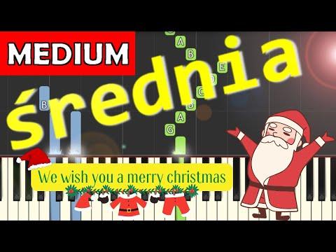 🎹 We wish you a merry Christmas - Piano Tutorial (średnia wersja) (MEDIUM) 🎹
