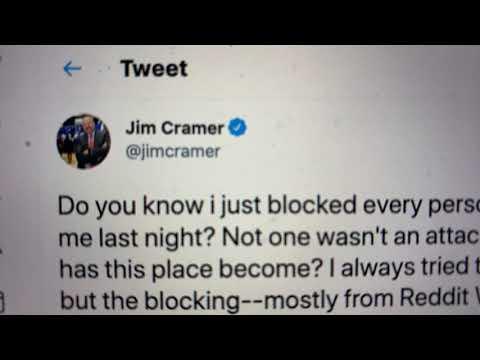 "Jim Cramer Calls Twitter A Worthless Time Suck Because Of ""Reddit WSB People"" According To His Tweet"