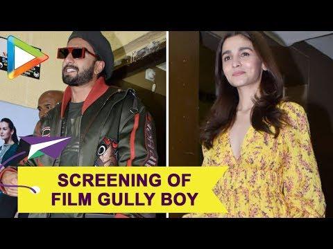 Deepika Padukone, Alia Bhatt, Ranbir Kapoor & others at Screening of 'Gully Boy' | Part 1 Mp3