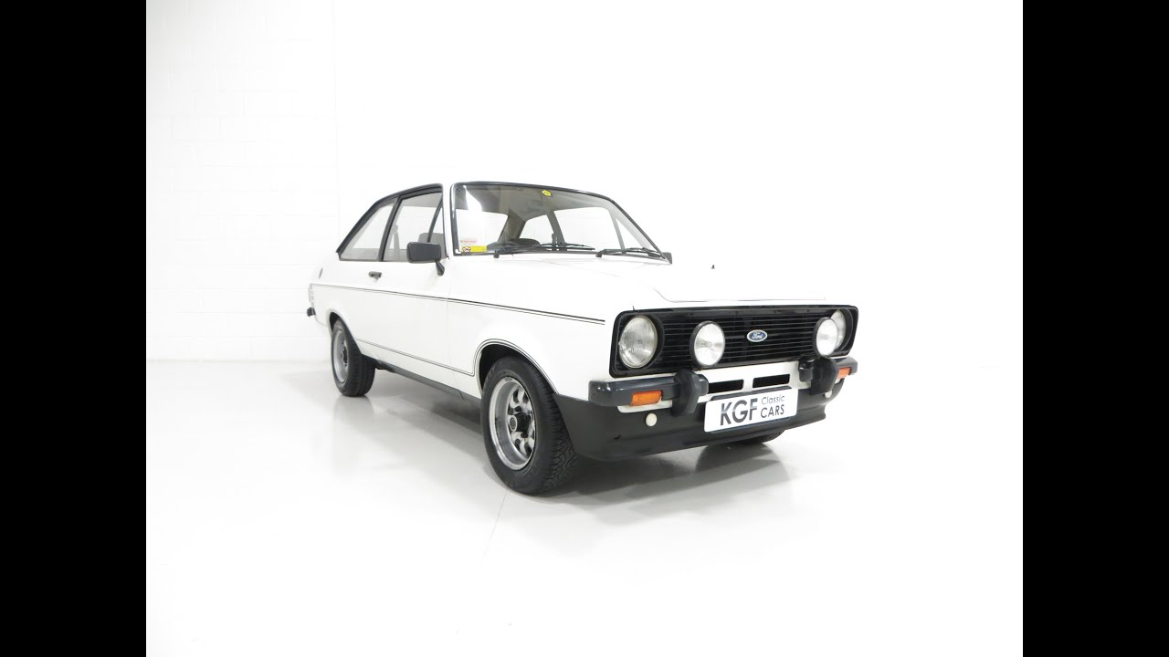 An Unrestored Ford Escort Mk2 1600 Sport with just 11,886 Miles ...