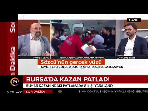 #SONDAKİKA Bursa'da kazan patladı, 8...