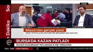 #SONDAKİKA Bursa'da kazan patladı, 8 kişi yaralandı