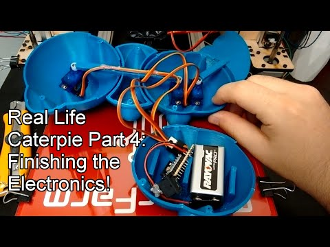 Real Life Pokemon - 3D Printed Animatronic Caterpie Part 3: Finishing the Electronics