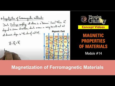 14. Physics | Magnetic Properties | Magnetization of Ferromagnetic Materials | by Ashish Arora