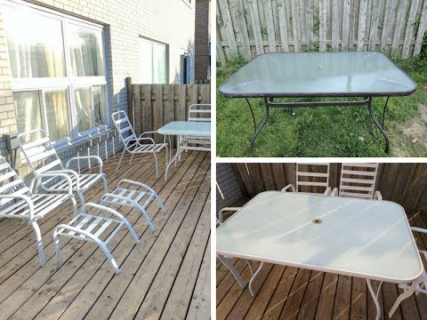 How To Update Your Old Patio Set Youtube