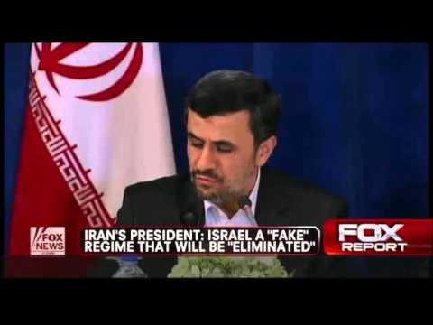 FOX NEWS-Ahmandinejad: Israel Is  A Fake Regime That Will Be 'Eliminated' (Sept 25, 2012)