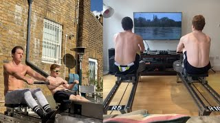 video: Watch: Isolation rowers tackle 'River Thames' for NHS