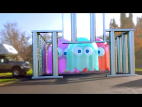 Pac-Man In Real Life Videos For Kids
