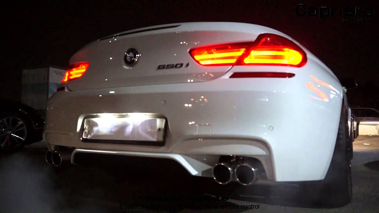 Capristo Exhaust Bmw 650i F12 F13 F06 With Valve Youtube