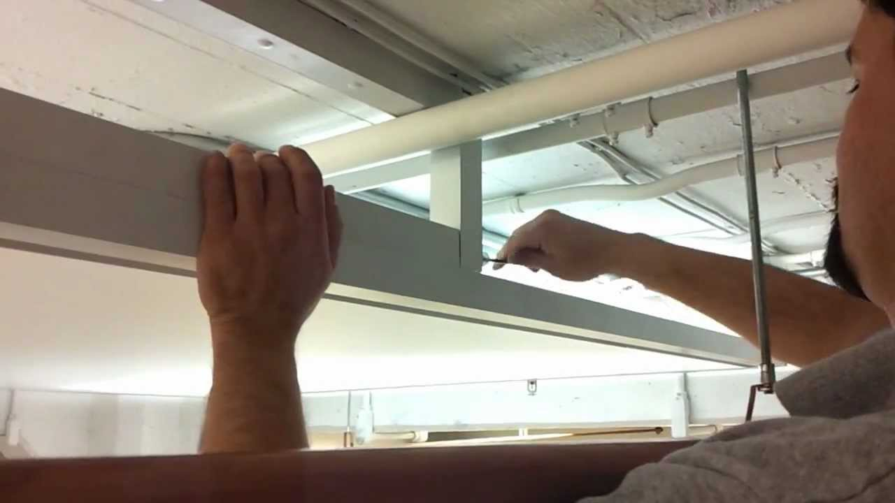 Back Lit Stretch Ceiling Light Panel On Hinge System Youtube
