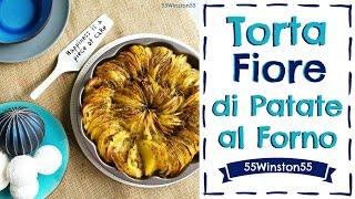 Torta Fiore di Patate al Forno | Contorno di Natale |  55Winston55