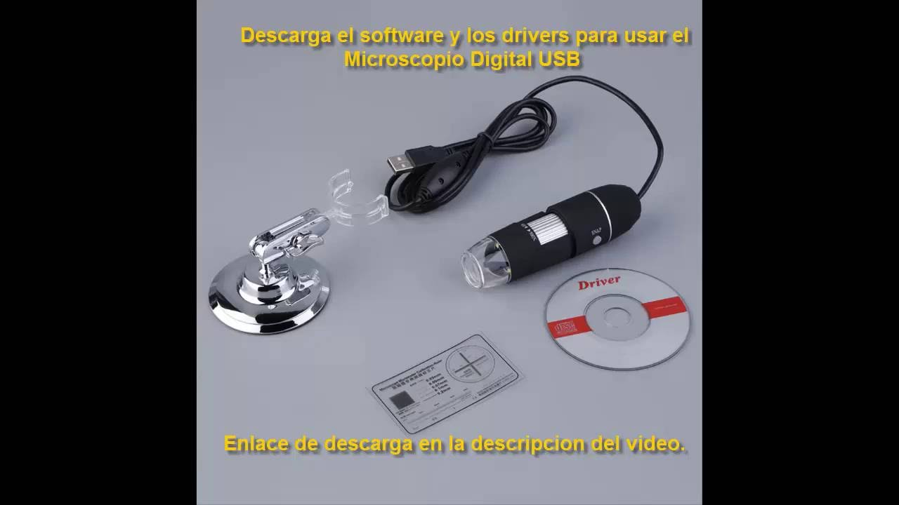 Software microscopio digital usb descarga youtube