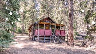 An 1880s Pioneer Log Cabin for Sale on 164 Acres