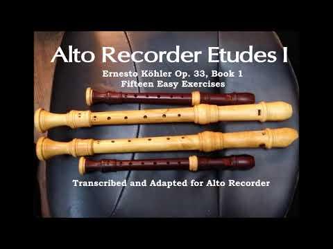 Alto Recorder Etude by Köhler Op 33 Book 1 No 8