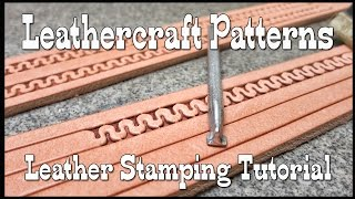 Leathercraft patterns leather stamping tutorial modified Craftool stamp
