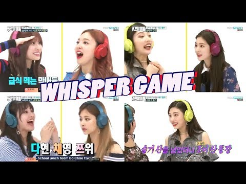 Red Velvet + Twice - Best of Whisper Challenge/Shout in Silence Game [Weekly Idol] Part 2