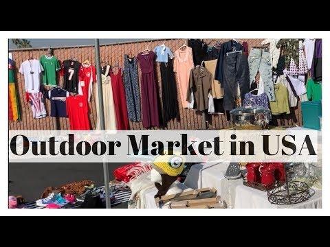 Outdoor Market In California, USA -