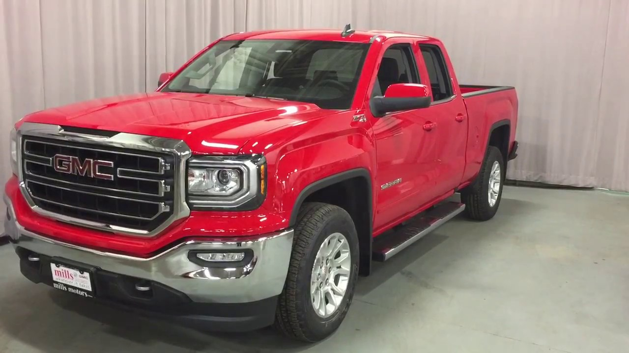 2017 gmc sierra 1500 sle 4wd double cab z71 suspension red stock 170900 youtube. Black Bedroom Furniture Sets. Home Design Ideas