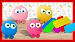 Анимационный Мультик. Лепим из пластилина, пластилиновые Смешарики, Видео для Детей и их родителей