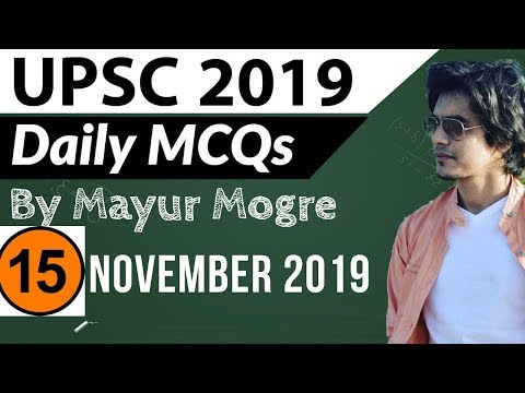 UPSC 2019 Preparation - 15 November 2018 Daily Current Affairs for UPSC / IAS 2019