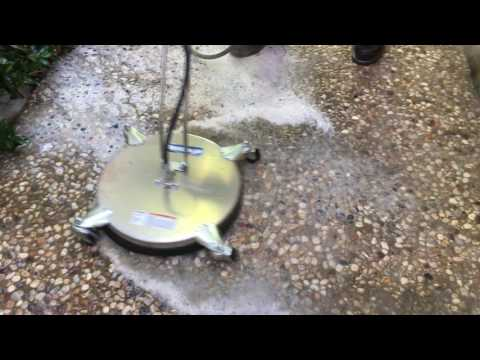 outdoor aggregate  patio steam clean