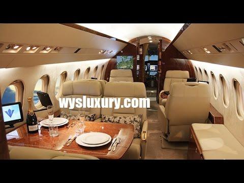 Dassault Falcon 900EX EASY Interior Private Plane Aircraft Charter Flight Service