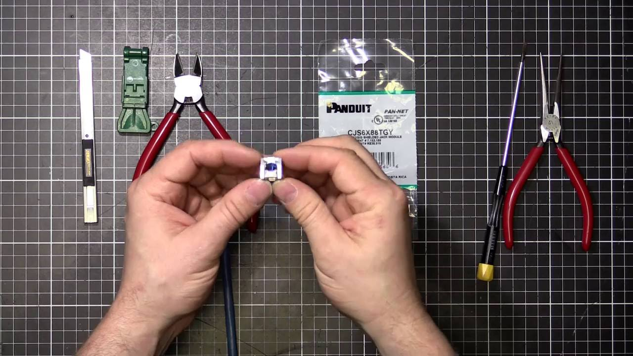 How To Terminate Panduit Cat6a Shielded Socket