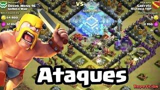 Un ataque GoWiWi puro contra TH10 fuerte | Clash of Clans