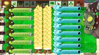 1 Dr. Zomboss vs Snow Pea and Gatling Pea Plants vs Zombies Challenge