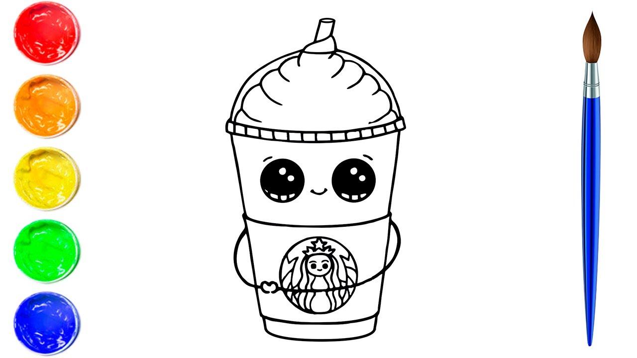 Coloring Cute Starbucks Cup  Art and Coloring Fun