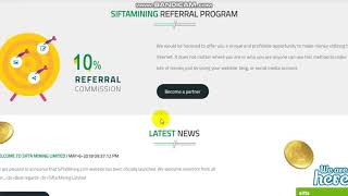 free 20 USD SIGN UP BONUS !!!! Join Urgently !!!   SIFTAMINING VERY GOOD PROJECT