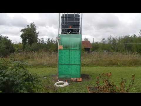 Душевая на даче и вышка под еврокуб для полива 2в1