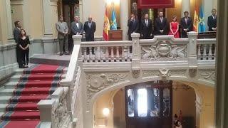 Adrián Barbón toma posesión del cargo de presidente de Asturias